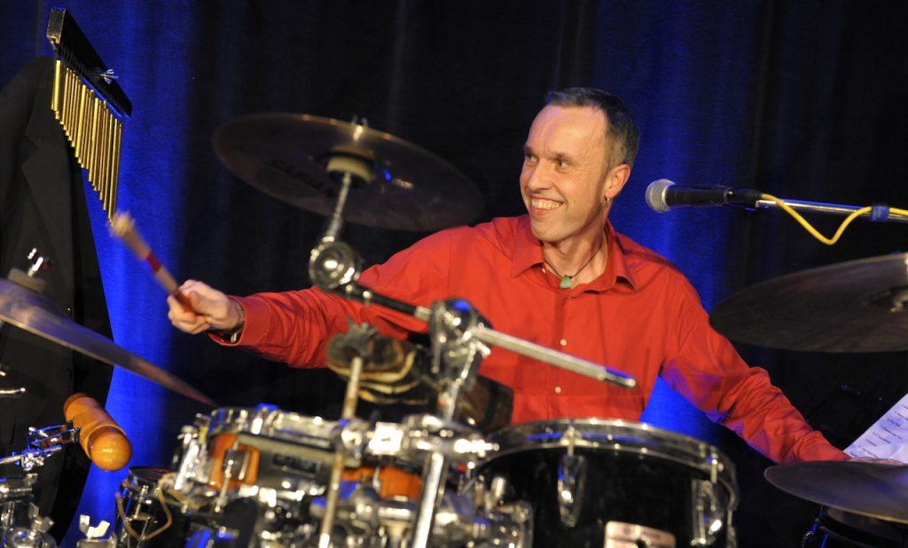 Peter Funda am Schlagzeug